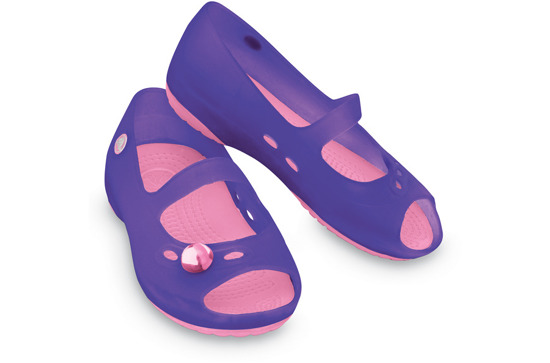 CHILDREN'S SHOES BALLERINA CROCS CARLIE FLAT 11233 VIOLET
