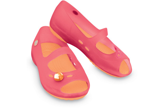 CHILDREN'S SHOES BALLERINA CROCS CARLIE FLAT GIRLS 11233 PINK