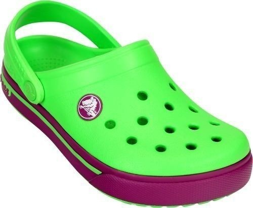 CHILDREN'S SHOES CROCS CLOG 12837 NEON GREEN/VIO