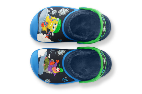 CHILDREN'S SHOES CROCS SPONGEBOB SNWBRDING CLOG 12735 OCEAN/NAVY