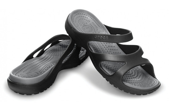 WOMEN'S SHOES FLIP-FLOPS CROCS MELEEN 11853 BLACK