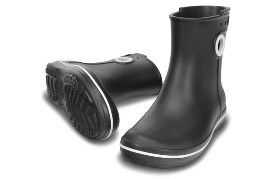 WOMEN'S SHOES WELLINGTONS CROCS JAUNT SHORTY 15769 BLACK