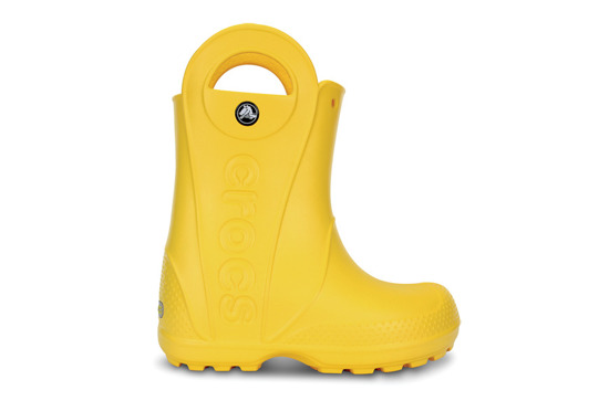 KINDER SCHUHE CROCS HANDLE RAIN BOOT 12803 GELB