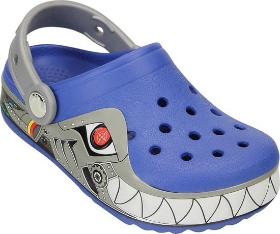 CROCS SHOES FLIP-FLOPS LIGHTS ROBO SHARK CLOG 15362 BLUE
