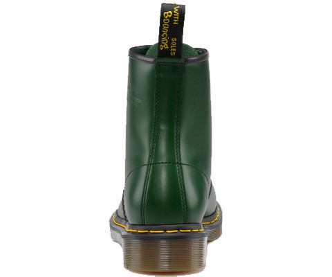 WOMEN'S SHOES DR. MARTENS 1460 GREEN SMOOTH