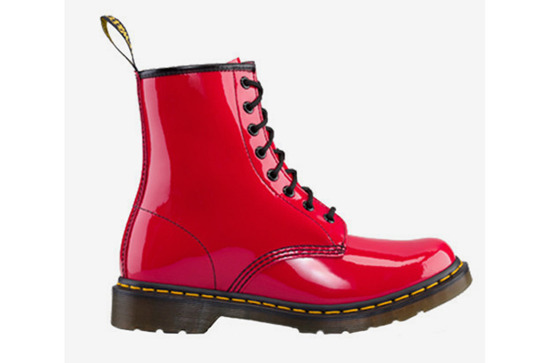 WOMEN'S SHOES  DR. MARTENS BOOTS 1460 RED ROUGE