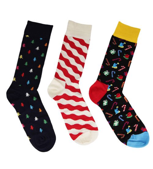 SOCKEN HAPPY SOCKS 3-PACK XMAS08 4000