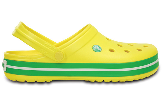 BUTY KLAPKI CROCSCROCBAND 11016 LEMON/GRASS GREEN